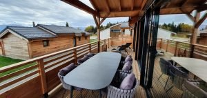 Woodland Village Chalets Outdoor Seating Area