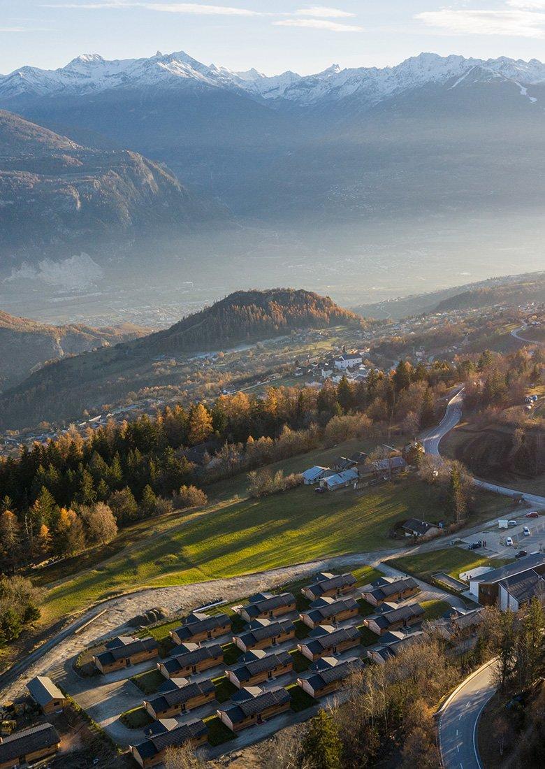 Woodland Village Swiss Alp Mountain Views